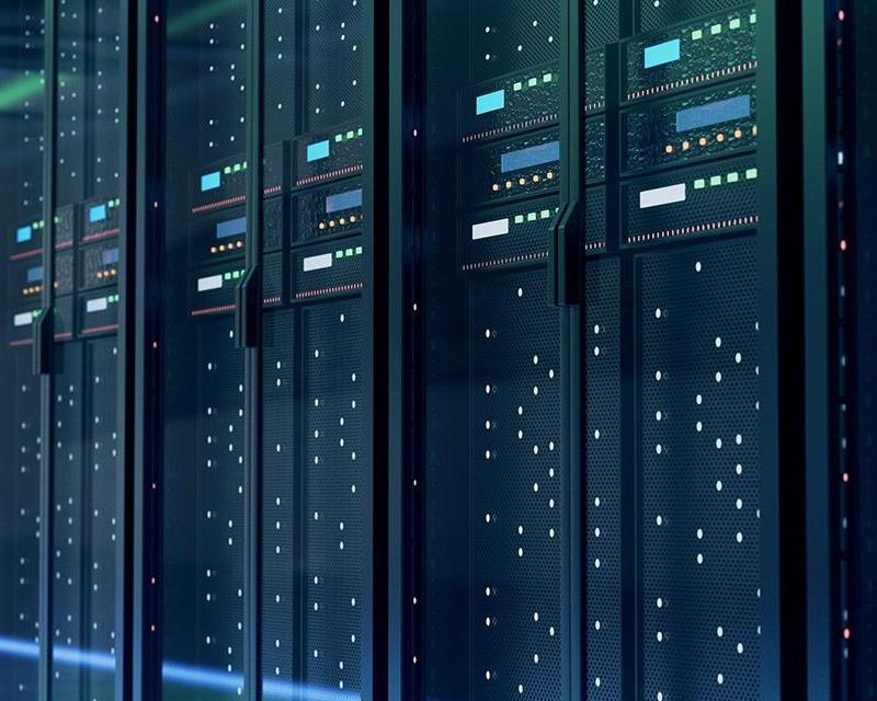 photo of modern servers used for website hosting