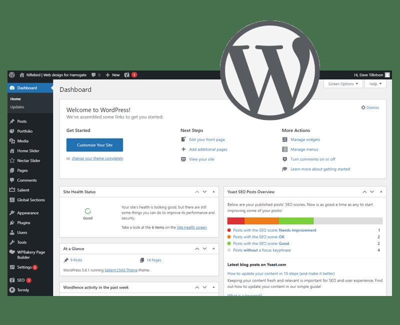 Wordpress CMS example screenshot