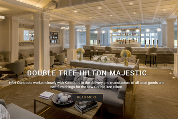 web design screenshot - Hilton hotel interior