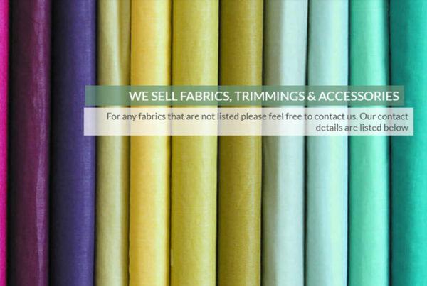 web design screenshot - colourful fabrics