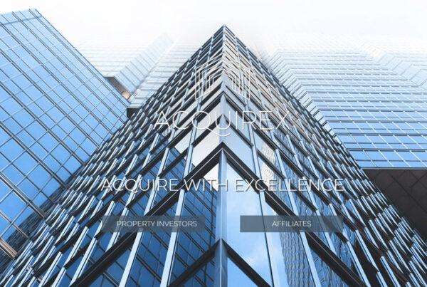 web design screenshot - photo of modern glass building